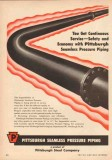 Pittsburgh Steel Company 1950 Vintage Ad Oil Seamless Pressure Piping