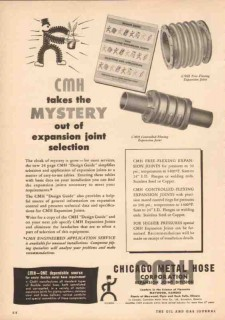 Chicago Metal Hose Corp 1950 Vintage Ad CMH Mystery Expansion Joint
