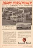 Ingersoll-Rand 1950 Vintage Ad Natural Gas KVG Gas-Engine Compressors