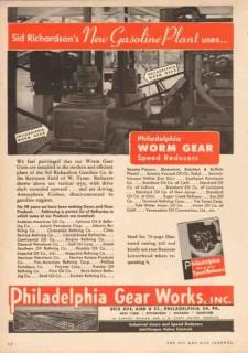 Philadelphia Gear Works 1950 Vintage Ad Gasoline Plant Sid Richardson