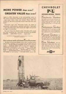chevrolet 1950 pl design more power greater value trucks vintage ad