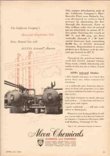 aluminum company of america 1950 horizontal dehydration vintage ad