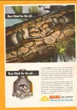 Hughes Tool Company 1950 Vintage Ad Oil Drilling Stag Beetle Fitted
