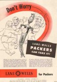 Lane-Wells Company 1950 Vintage Ad Oil Heat Pressure Packers Worry