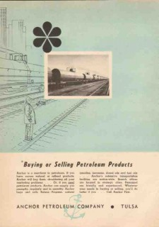 Anchor Petroleum Company 1950 Vintage Ad Oil Buying Selling Products 2