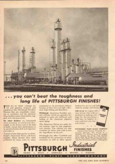 Pittsburgh Plate Glass Company 1950 Vintage Ad Oil Long Life Finishes
