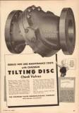 Chapman Valve Mfg Company 1950 Vintage Ad Oil Pipeline Tilting Disc