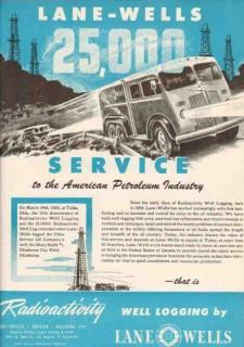 Lane-Wells Company 1950 Vintage Ad Oilfield Petroleum Industry Service