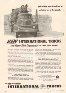 international harvester company 1950 haul wildcat bearcat vintage ad