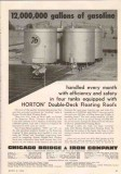 Chicago Bridge Iron Company 1950 Vintage Ad Oil Gasoline Floating Roof