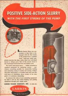 Larkin Packer Company 1950 Vintage Ad Pump Positive Side-Action Slurry