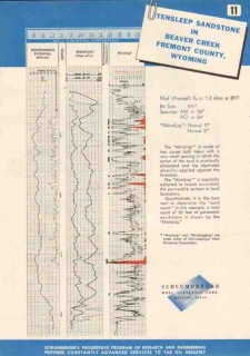 Schlumberger Well Surveying Corp 1950 Vintage Ad Tensleep Sandstone WY