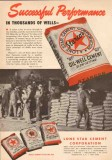 Lone Star Cement Corp 1950 Vintage Ad Oil Field Successful Performance