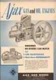 Ajax Iron Works 1950 Vintage Ad Gas Oil Engines Match Low Maintenance