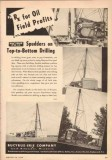Bucyrus-Erie Company 1950 Vintage Ad Oil Field Profits Spudders Rx