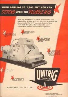 Unit Rig Equipment Company 1950 Vintage Ad Oil Drilling Reliable U-15