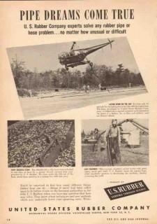 United States Rubber Company 1950 Vintage Ad Oil Hose Pipe Dreams True