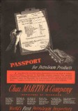 Chas Martin Company 1950 Vintage Ad Oil Petroleum Products Passport
