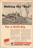 International Harvester Company 1950 Vintage Ad Tractor Oil Field Bed