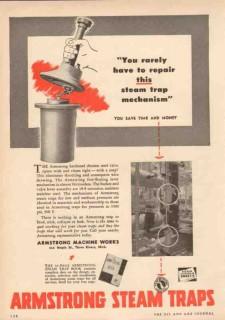 Armstrong Machine Works 1950 Vintage Ad Repair Steam Trap Mechanism