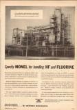 International Nickel Company 1950 Vintage Ad Monel Handle HF Fluorine