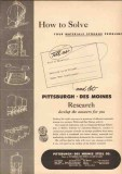 Pittsburgh-Des Moines Steel Company 1950 Vintage Ad Materials Storage