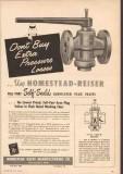 Homestead Valve Mfg Company 1950 Vintage Ad Oil Lubricated Self-Seald