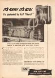 American Air Filter Company 1950 Vintage Ad 16-Cyl Gas Diesel Engine
