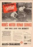 allis-chalmers 1950 cincinnati electric equipment company vintage ad