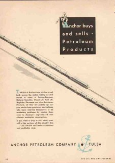 Anchor Petroleum Company 1950 Vintage Ad Oil Buys Sells Products -3