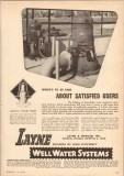 Layne Bowler Inc 1950 Vintage Ad Oil Vertical Turbine Pump Satisfied