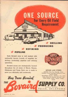 Bovaird Supply Company 1950 Vintage Ad Oilfield Requirement One Source