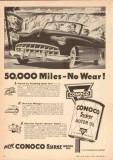 Continental Oil Company 1950 Vintage Ad Conoco Super Motor No Wear -2