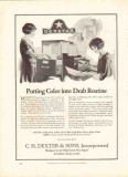 c h dexter sons inc 1926 dexstar colored manifold sheets vintage ad