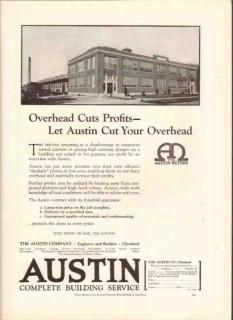 austin company 1926 overhead cuts profit printing plants vintage ad