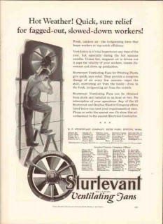 b f sturtevant company 1926 fagged-out workers ventilation vintage ad