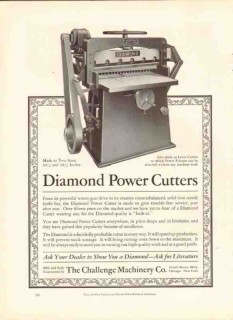 challenge machinery company 1926 diamond power cutter paper vintage ad