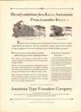 american type founders company 1926 substitute kelly press vintage ad