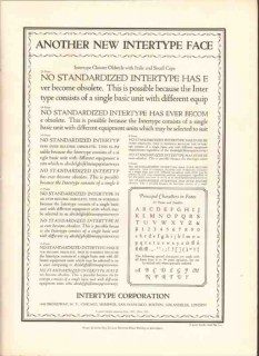 intertype corp 1926 another new type face printing industry vintage ad