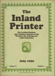 inland printer 1926 adam dephillips magazine cover vintage print