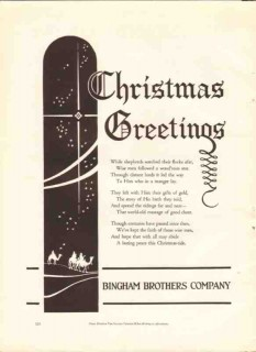 bingham brothers company 1926 christmas greetings printing vintage ad