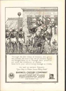 barnes-crosby company 1926 ancient egypt art printing shop vintage ad
