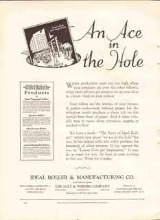 ideal roller mfg company 1926 lower cost per impression vintage ad