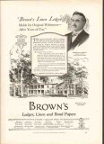 l l brown paper company 1926 ralph leighton kennebec maine vintage ad