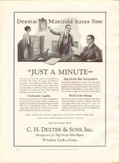 c h dexter sons inc 1926 dexstar manifold saves time paper vintage ad