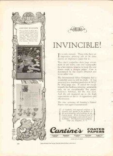 martin cantine company 1926 invincible print coated papers vintage ad