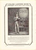 a m collins mfg company 1926 laidtone book coated paper vintage ad