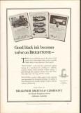bradner smith company 1926 brightone velvet printing paper vintage ad