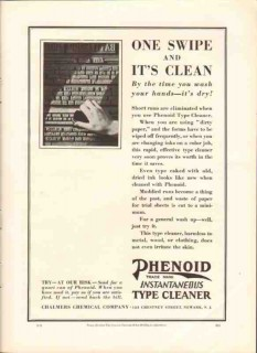 chalmers chemical company 1926 swipe phenoid type cleaner vintage ad