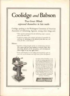 hill-curtis company 1926 trimosaw coolidge babson printing vintage ad